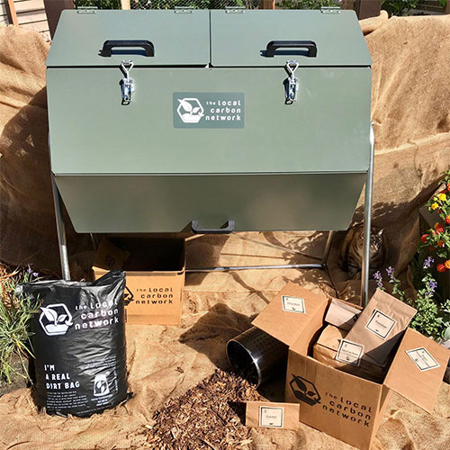 Boosted composter kit
